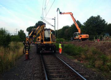 Gleisarbeiten Kampfmittelerkundung